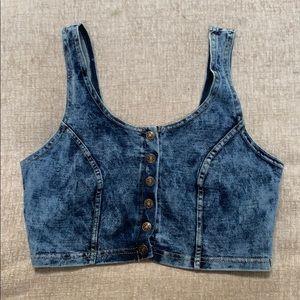 Jean crop top
